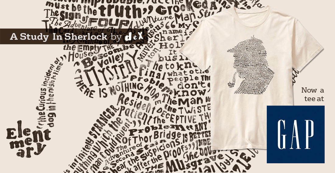 DEX'S Sherlock tee sells out at GAP