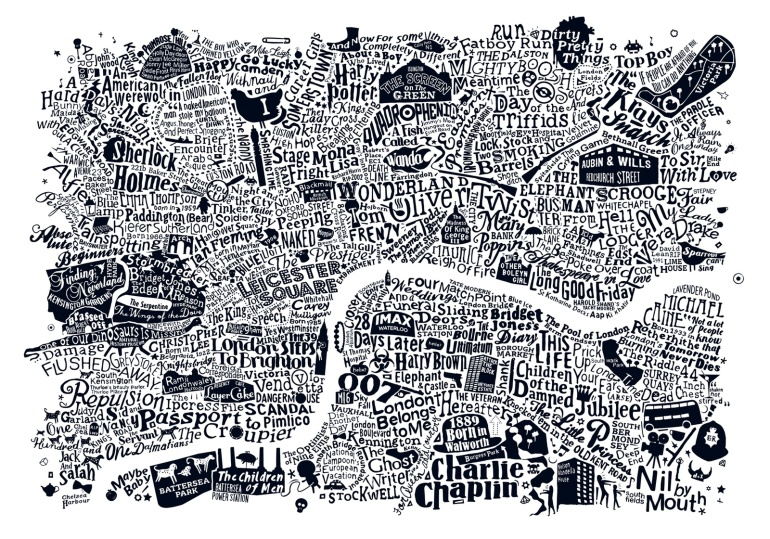 Map Of Central London To Print.Our New Film Art Print Run For The Hills